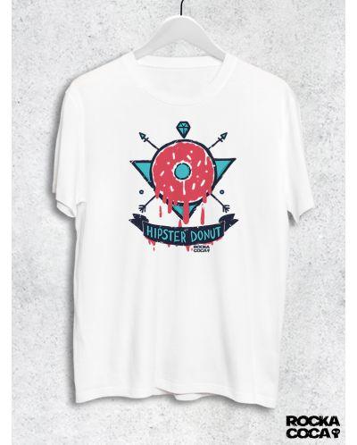 Тениска RockaCoca Hipster Donut, бяла, размер L - 1