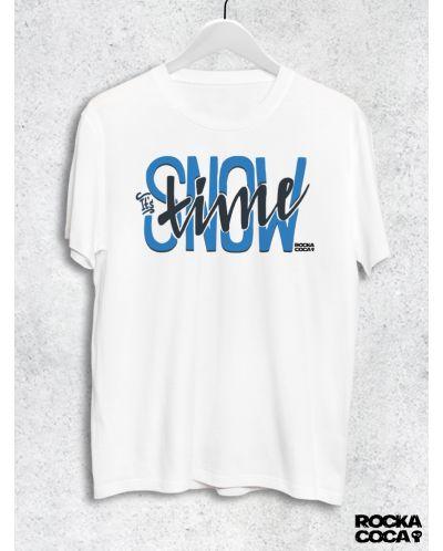 Тениска RockaCoca Snow Time, бяла, размер S - 1