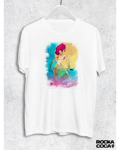 Тениска RockaCoca Samurai Mermaid, бяла, размер S - 1