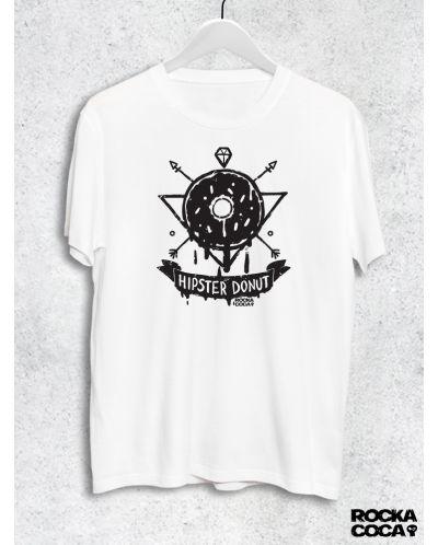 Тениска RockaCoca Hipster Donut, черна/бяла размер L - 1