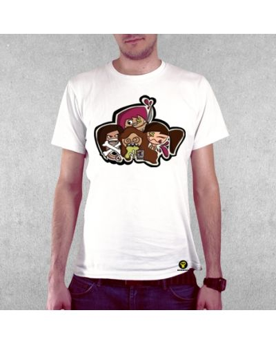 Тениска RockaCoca Play Guy, бяла, размер S - 2