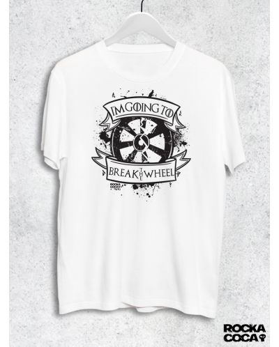 Тениска RockaCoca The Wheel, бяла, размер L - 1