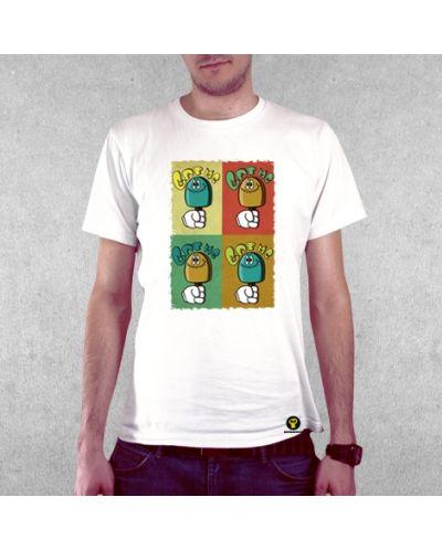 Тениска RockaCoca Eat Me, бяла, размер L - 2