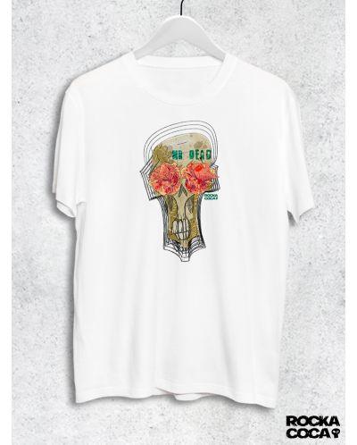 Тениска RockaCoca Mr. Dead, бяла, размер S - 1