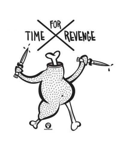 Тениска RockaCoca Revenge, бяла, размер L - 2