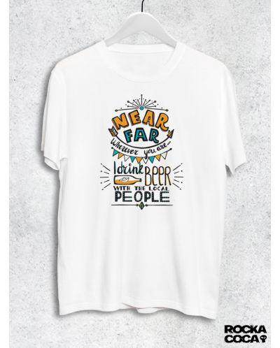Тениска RockaCoca Near Far, бяла, размер XL - 1