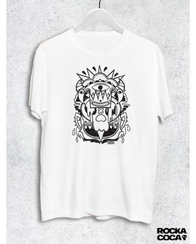 Тениска RockaCoca Skull King, бяла, размер L - 1