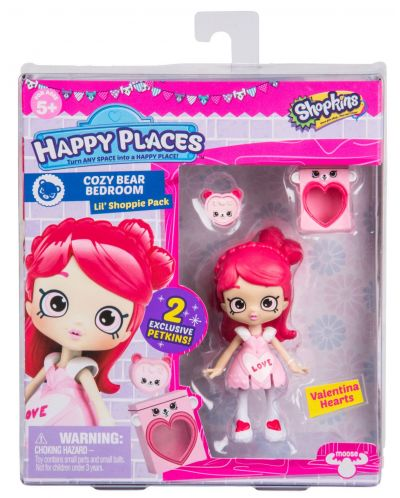 Фигурка Shopkins Happy Places - Valentina Hearts, Серия 3 - 1