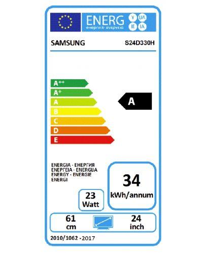 """Samsung S24D330HSX, 24"""" TN LED, GAMING, 1ms, 1920x1080, HDMI, D-SUB, 250cd/m2, Mega DCR, 178°/178°, Black High glossy - 7"""