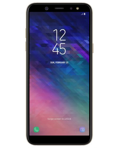 Смартфон Samsung GALAXY A6 2018 32GB Златист - 1