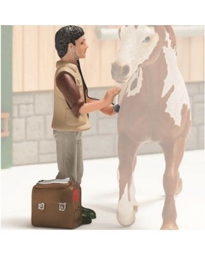 Фигурка Schleich от серията Аксесоари към Животни във фермата: Лекар - ветеринарен - 1