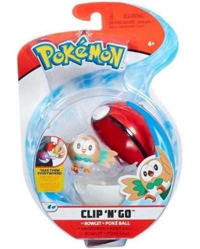 Екшън Poké топка Pokémon - Rowlet - 1