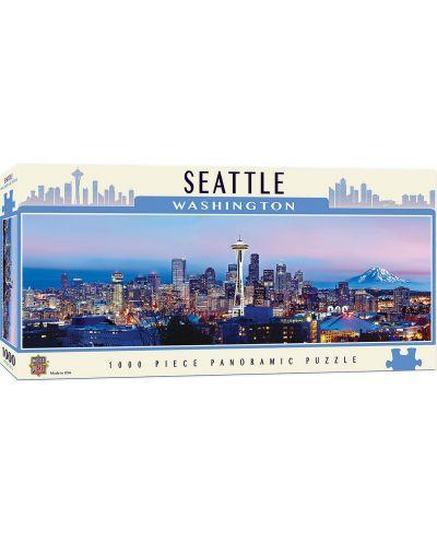 Панорамен пъзел Master Pieces от 1000 части - Сиатъл, Вашингтон - 1