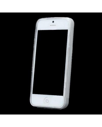Skinny TPU Case за iPhone 5 -  прозрачен-мат - 4