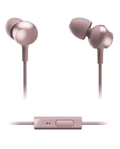 Слушалки с микрофон Panasonic RP-TCM360E-P - in-ear, розови - 3