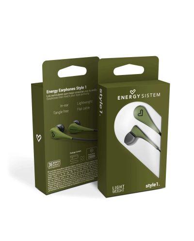 Слушалки Energy Sistem - Earphones Style 1, зелени - 6