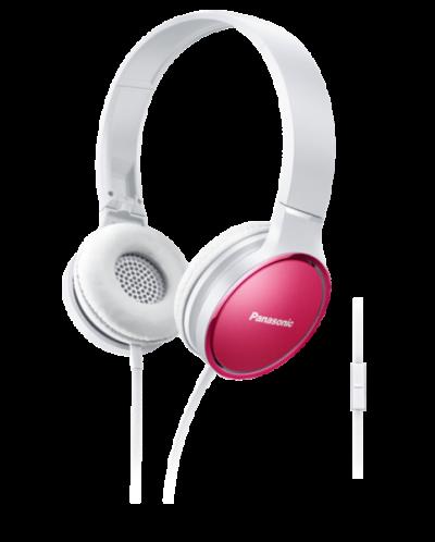 Слушалки с микрофон Panasonic RP-HF300ME-P - розови - 1