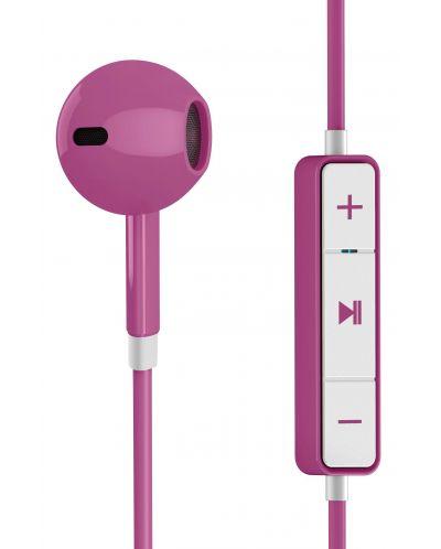 Слушалки с микрофон Energy Sistem - Earphones 1, розови - 2