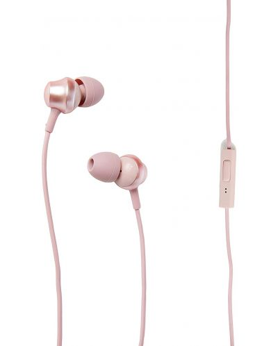 Слушалки с микрофон Panasonic RP-TCM360E-P - in-ear, розови - 2