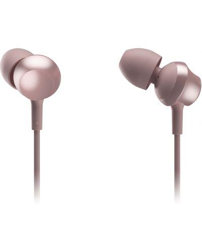Слушалки с микрофон Panasonic RP-TCM360E-P - in-ear, розови - 1