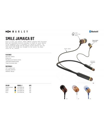 Слушалки House of Marley Smile Jamaica BT - черни - 3