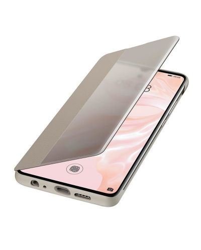 Калъф Huawei Elle P30 - Smart View Flip Cover, khaki - 4