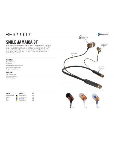 Слушалки House of Marley Smile Jamaica BT - бели/кафяви - 3