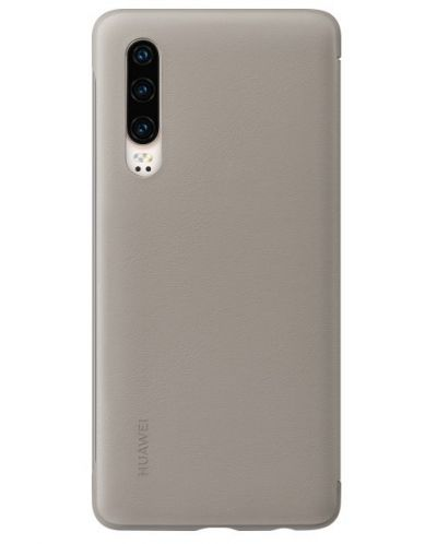 Калъф Huawei Elle P30 - Smart View Flip Cover, khaki - 3