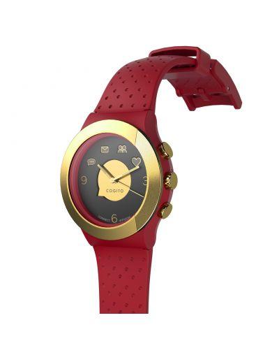 Смарт часовник Cogito Fit - червен/златист - 2