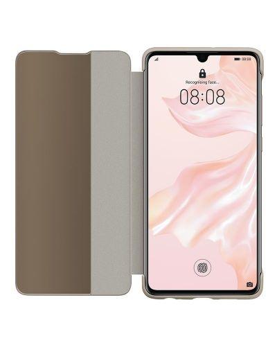 Калъф Huawei Elle P30 - Smart View Flip Cover, khaki - 2