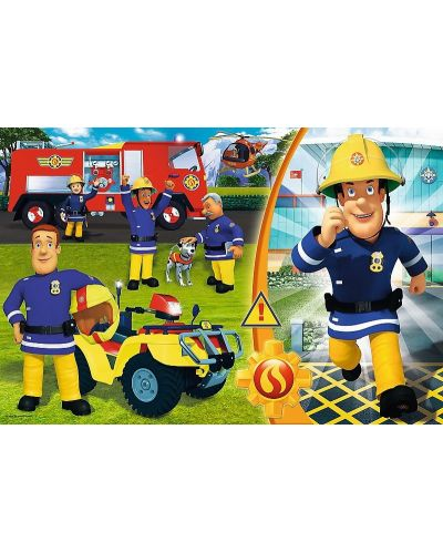 Пъзел Trefl от 24 макси части - Смелият пожарникар Сам - 1
