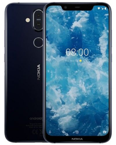"Смартфон Nokia 8.1 DS - 6.18"", 64GB, син - 2"