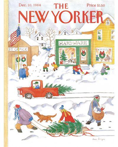 Пъзел New York Puzzle от 500 части - Снежен ден - 1