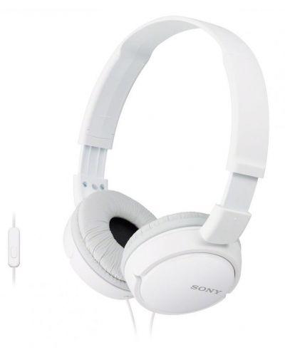 Слушалки Sony MDR-ZX110AP - бели - 1