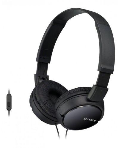 Слушалки Sony MDR-ZX110AP - черни - 1