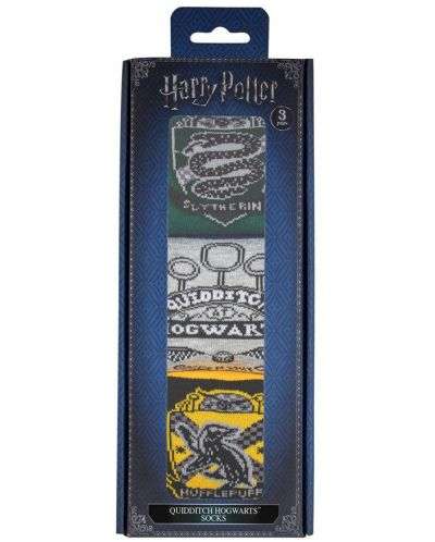 Чорапи Harry Potter - Quidditch Hogwarts, 3 чифта - 2