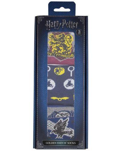 Чорапи Harry Potter - Golden Snitch, 3 чифта - 2