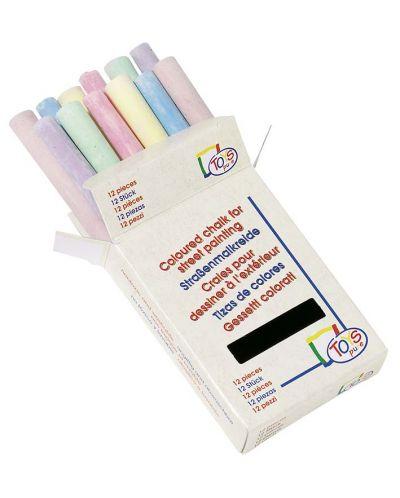 Цветни тебешири Toys Pure - 12 броя, в кутийка - 1