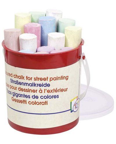 Цветни тебешири Toys Pure - 15 броя, в кофичка - 1