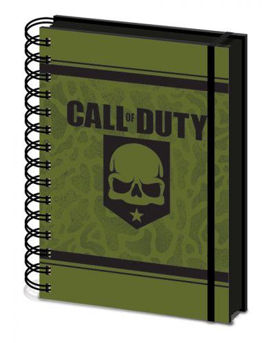 Тефтер Pyramid A5 - Call of Duty (Skull), със спирала - 1