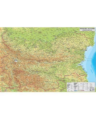Stenna Prirodogeografska Karta Na Blgariya 1 270 000 Laminat