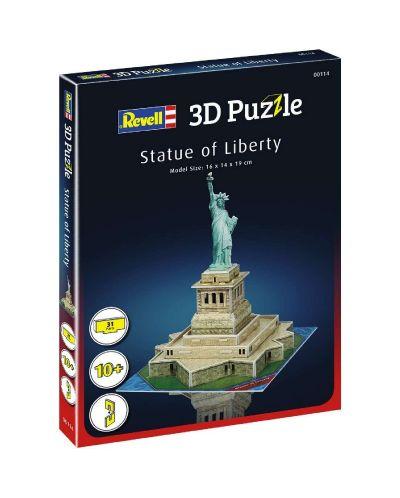Мини 3D пъзел Revell - Статуята на свободата - 2