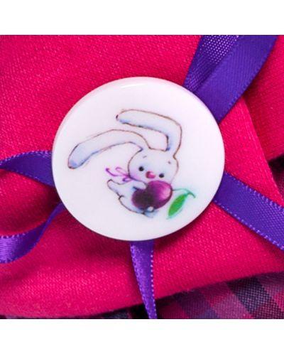 Плюшена играчка Budi Basa - Зайка Ми, с рокличка с яка и шапка, 25 cm - 5