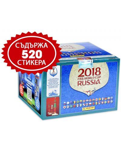 Стикери Panini FIFA World Cup Russia 2018 - кутия с 104 пакета - 520 бр. стикери - 1