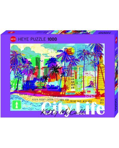 Пъзел Heye от 1000 части - Обичам Маями!, Кити Маккол - 1