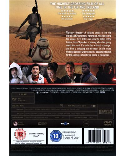 Star Wars: Episode VII - The Force Awakens (DVD) - 2
