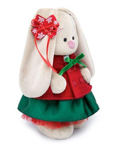 Плюшена играчка Budi Basa - Зайка Ми, със зелена поличка и червено палтенце, 32 cm - 3