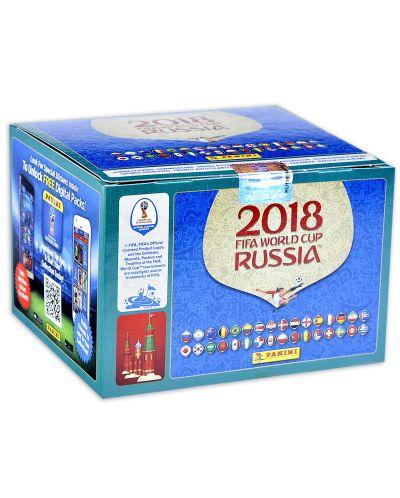 Стикери Panini FIFA World Cup Russia 2018 - кутия с 104 пакета - 520 бр. стикери - 2