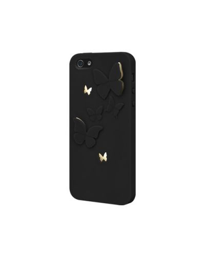 SwitchEasy Kirigami Night Wings за iPhone 5 -  черен - 1