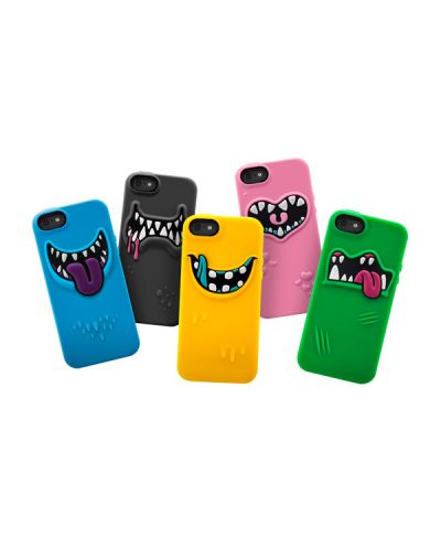 SwitchEasy Monsters Wicky за iPhone 5 -   син - 5